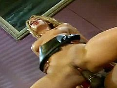youre going to love watching the pretty, blonde haired Inari Vachs sitting on her lovers couch wearing her latex mini skirt, until it and her panties come off, allowing this guy to pound his big black pole into her mostly shaved pussy, letting you watch her natural tits bounce, until she gets an interracial facial.