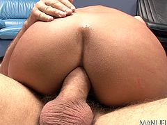 This wild angel gets really excited, when it's time to fly naked in the arms of her passionate partner. The sensual milf bewitches the horny guy with her skin's scent and crazy ass. See her sucking dick and riding it!