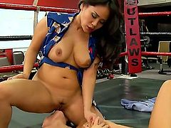 Two Asian bitches that go by the names of Asa Akira and Jessica Bangkok are going to get their wet and tight vaginas fucked nice and hard by a black rod in this interracial video