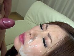 Incredible sweetheart Rina Koda takes a few cumshots on her face