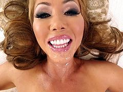 POV pussy and mouth pounding of a naughty Asian milf