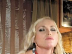 Blonde Kathia Nobili had her beaver hammered many times but wants some more
