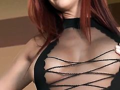 Jayden Cole gives herself some pussy stimulation with the help of her sex toy