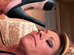 Debi and Ginger have been with enough of men all their lives and it just doesn't excite them anymore. They like the company of women. Ginger takes off Debi's panties and kisses her passionately, then spreads her big pussy hole, and fingers it as hard as she can. Enjoy!