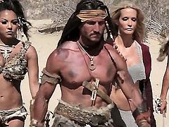 The barbarians always have it good when it comes down to sex! Here, this barbarian is going to have a hot threesome with two bitches and theyre going to love his rod