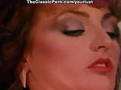 Porn stars from the past Cris Cassidy, Mimi Morgan, David Morris in classic xxx scene