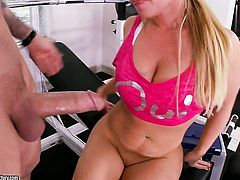 Blonde Austin Taylor makes a dirty dream of never-ending fucking with hot dude a reality