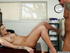 Jessa Rhodes lets Barrett Blade stick his cock in her pussy