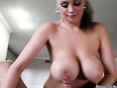 With huge boobs is a slut that wants to ride Will Powerss schlong forever
