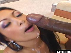 and were gonna cram it hard into the tightest and most delicious little Asian pussy we know. Kea Kulani almost couldnt hide her reaction on camera when she got her very first look at this massive dick but she just got down on her knees and took care of business