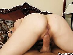 Exotic Aiden Starr is about to get orgasm after taking Kurt Lockwoods sturdy meat pole deep in her wet hole