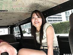 Jen Li with juicy bottom fulfills her sexual needs with guys snake in her mouth