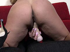 Alejandra loves dicks, but when she has none around her, she makes sure dildos work her pussy. Watch this hot mature blonde take two dildos and play with them like a real slut. She takes one in her hand and sucks it real hard. She takes another and shoves it into her holes, to make sure she cums.