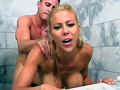 His blonde stepmom was as horny as fuck, and she, Alexis Fawx, asked him to have sex in shower. When your mum tells you to do something, you fucking do it!