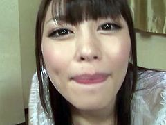 Scantily clad Japanese AV star Ayu Sakurai attempts to service a group of ogrish juice men featuring dedicated blowjobs followed by a cumming in the mouth and swallowing gokkun finish with subtitles