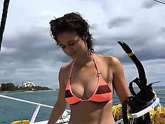 Hawaii vacation with Blair Summers, creampie and a handjob