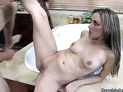 Will Powers pops out his sausage to fuck Kiera King