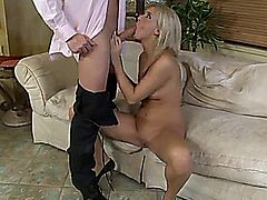 blonde cheater wife shared by husband and lover