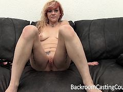 Punk Redhead Gives Handjob, Gets Anal, Swallows a Load