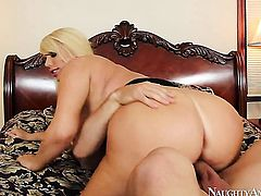 Johnny Castle cant wait any longer to stuff his fuck stick in breathtakingly sexy Karen Fishers hole