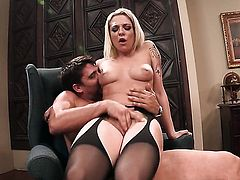 Enchanting pornstar Bailey Blue prefers butt sex to all other kinds of fucking