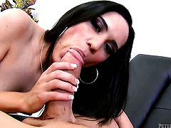 Billy Glide attacks irresistibly sexy Tia CyrusS mouth with his love torpedo