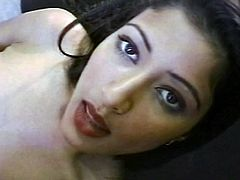 Horny indian chick sucking cock