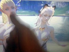 Two busty high elves dance for cum!