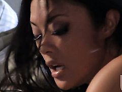 Kaylani Lei kills time sucking guys erect dick