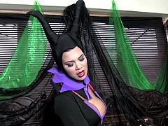 We all know her as Maleficent, the Mistress of Evil. What we do not know is that she is one horny slut when it cums to satisfying her wet delicate evil pussy.