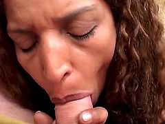 On this scene we present a scene to remember with one of our finest Ebony babes on board. This babe is so horny and needy for cock that she can´t help to keep it out of her mouth.