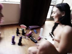 Ashli Orion gets her slit stretched by lesbian Proxy Paige
