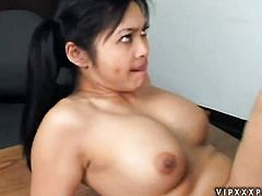 Mika Tan is in heaven blowing dudes meaty pole