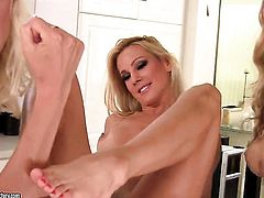 Blonde Anita Dark with huge breasts and Puma Swede spend time doing it
