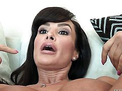 Lisa Ann and Dana Vespoli groan in lesbian ecstasy
