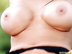 Keiran Lee buries his rock solid meat stick in saucy Audrey Bitonis fuck hole