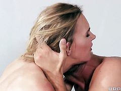 Keiran Lee explores the depth of gorgeous Julia Ann  Tanya Tates throat with his love wand