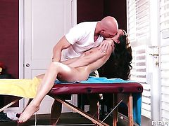 Johnny Sins is horny and cant wait any longer to screw pretty Lily Carters ass with his sturdy ram rod