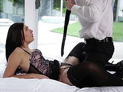 This couple decides that just the regular vanilla sex will not do. Marley gets dressed up in some sexy lingerie, which is very enticing to Seth, who had just got home from work. The passion is high as they kiss and he gets a taste of her sweet pussy. She returns the favor by engulfing his stiff cock.