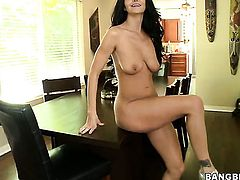 Milf Ava Addams with huge jugs and clean snatch makes gent shoot his load