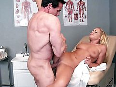 Peter North is horny and cant wait any more to pound mouth-watering Britney Youngs mouth