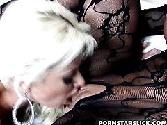 Blonde and Nikita Von James enjoy lesbian sex session they wont soon forget
