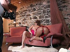 Enchanting tramp Silvia Saint makes her lesbian fantasies a come to life with Sandra Sanchez