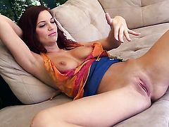 Jayden Cole plays with herself on camera