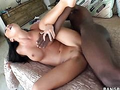 Horny black guy fucks hot asian Asa Akira