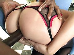 Prince Yahshua attacks sexy bodied Jaelyn FoxS mouth with his love torpedo