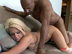 BBC worshiping blonde bitch only fucks hung black men