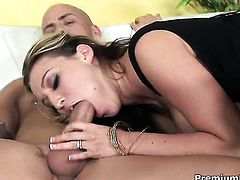 Memphis Monroe with huge knockers spreads her pussy lips invitingly in hardcore action