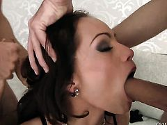 Sophie Lynx feels like she is Choky Ices fuck toy in this anal session