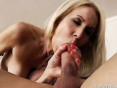 Johnny Castle is horny and cant wait any longer to bang sexy Erica Laurens snatch with his throbbing meat stick